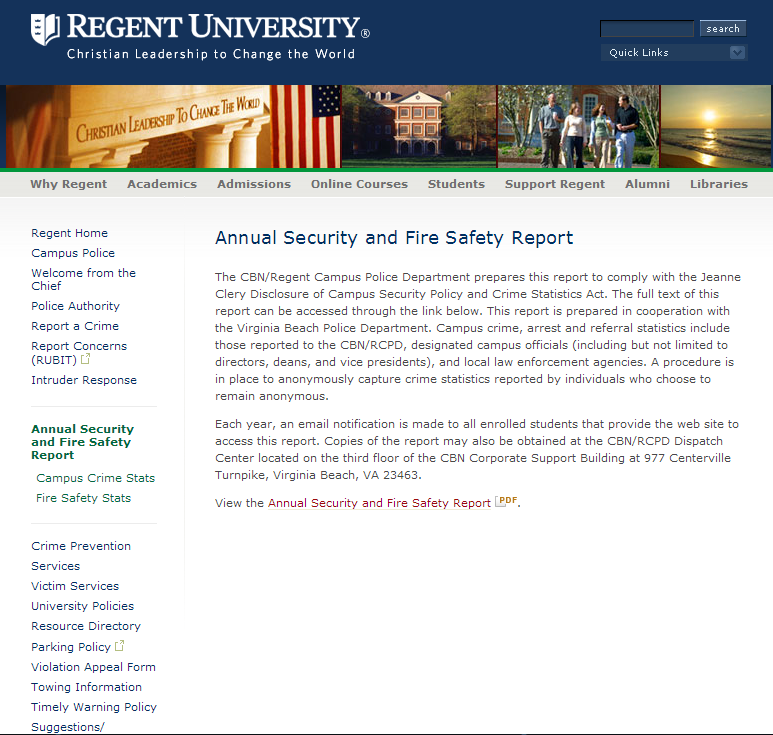 Safety & Security Report